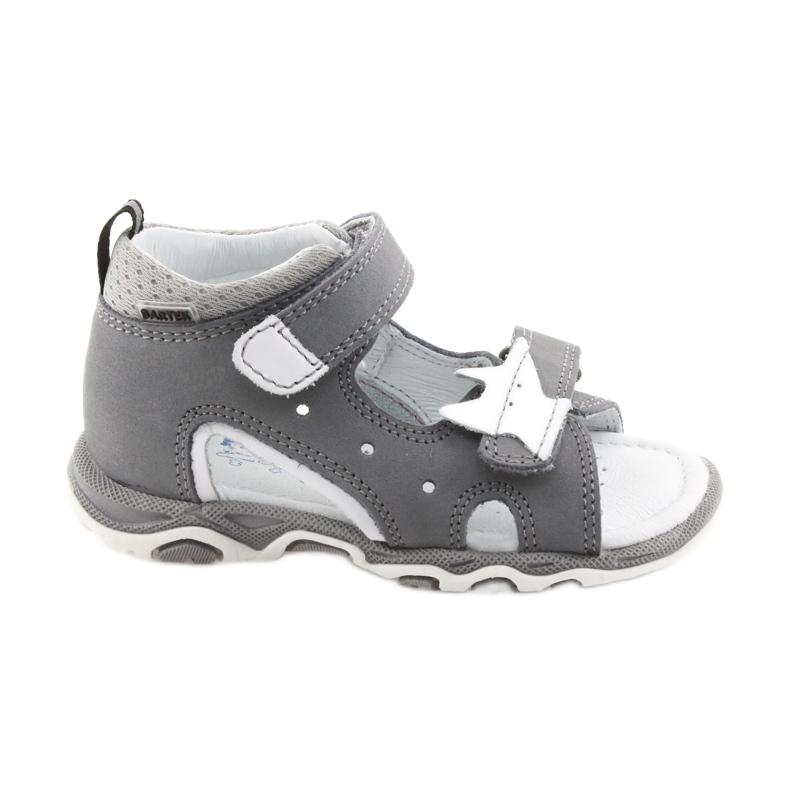 Sandałki chłopięce rzepy Bartek 51489 szare