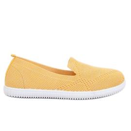 Trampki slip-on żółte 784 Yellow