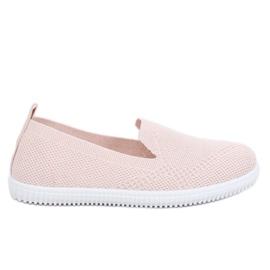 Trampki slip-on różowe 784 Pink