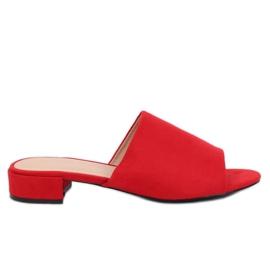 Klapki damskie czerwone XW9093 Red