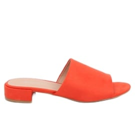 Klapki damskie pomarańczowe XW9093 Orange