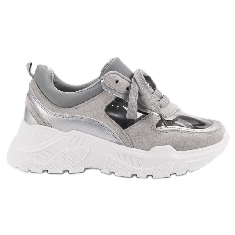 Transparentne Sneakersy szare