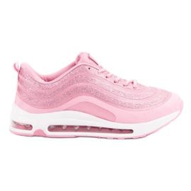 Modne Buty Sportowe różowe