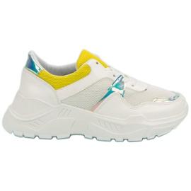 Żółte Wygodne Sneakersy