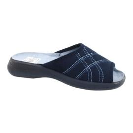 Befado obuwie damskie pu 442D147 niebieskie
