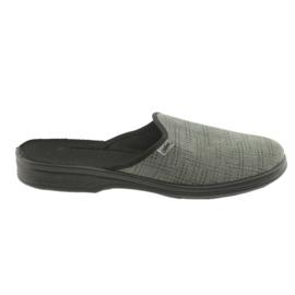 Befado obuwie męskie pu 089M410 czarne szare