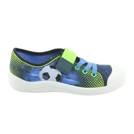 Befado obuwie dziecięce 251Y121 niebieskie zielone granatowe