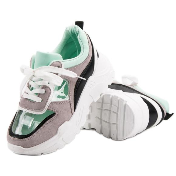 Transparentne Sneakersy Na Platformie szare