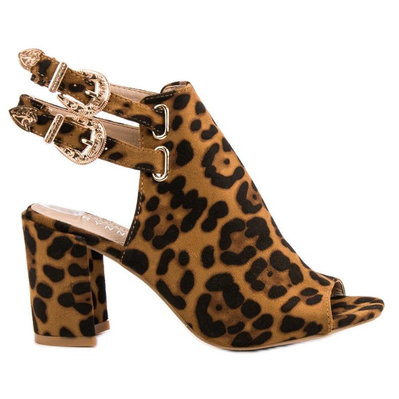 Erynn brązowe Eleganckie Zbudowane Sandały
