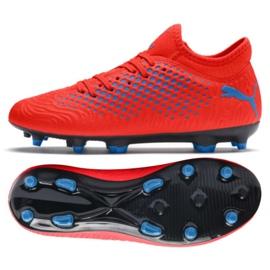 Buty piłkarskie Puma Future 19.4 Fg Ag Jr 105554 01 czerwone czerwone