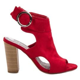 Erynn Czerwone Sandały Na Słupku