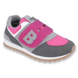Befado obuwie dziecięce do 23 cm 516X039 szare różowe