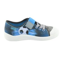 Befado obuwie dziecięce 251Y120 niebieskie szare