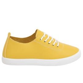 Trampki damskie żółte WD009 Yellow