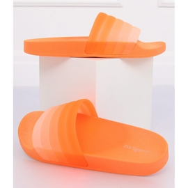 Klapki damskie pomarańczowe K-9183 Orange
