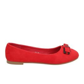Baleriny damskie czerwone X-3 Rojo