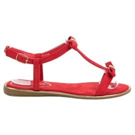Sandałki Z Kokardką VINCEZA czerwone
