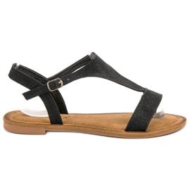 Vinceza Czarne Sandały