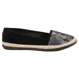 Lucky Shoes Czarne Wsuwane Obuwie