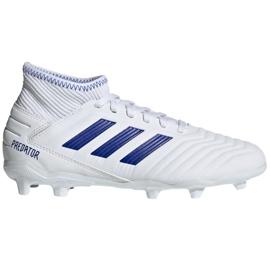Buty piłkarskie adidas Predator 19.3 Fg Jr CM8535 białe wielokolorowe