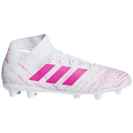 Buty piłkarskie adidas Nemeziz 18.3 Fg M BB9436 białe białe