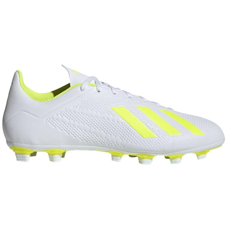 Buty piłkarskie adidas X 18.4 Fg M BB9377 białe wielokolorowe