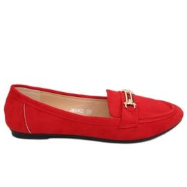 Mokasyny damskie czerwone JM8542Z Rojo