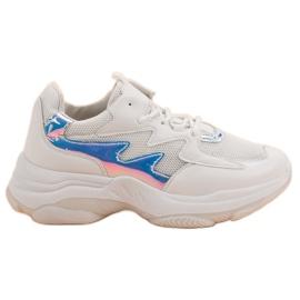 Kayla Białe Sneakersy Z Efektem Holo