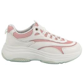 Biało-różowe Sneakersy