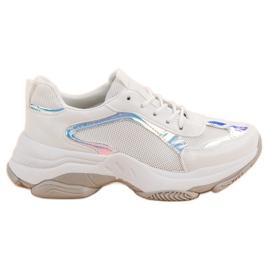 Renda białe Modne Sneakersy