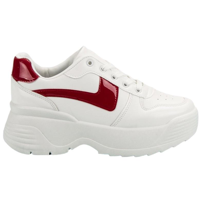 Kylie Sneakersy Na Platformie białe