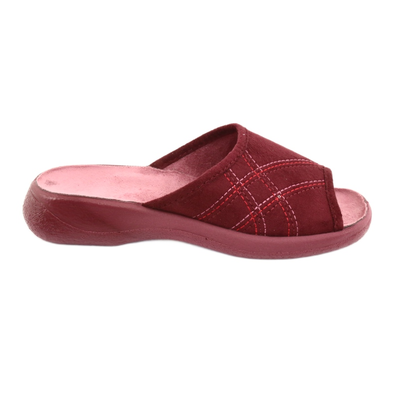 Befado obuwie damskie pu 442D146 wielokolorowe czerwone