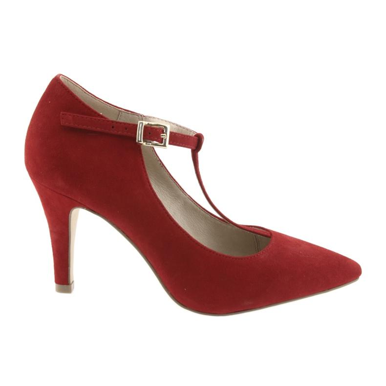 Czółenka damskie czerwone Caprice 24400
