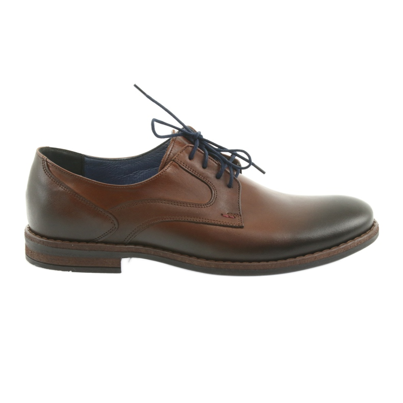 Pantofle męskie brązowe Nikopol 1712