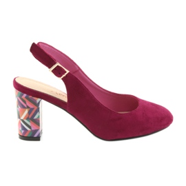 Różowe Sandały na słupku Sergio Leone 788