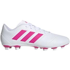Buty piłkarskie adidas Nemeziz 18.4 FxG M D97990 białe niebieski, biały