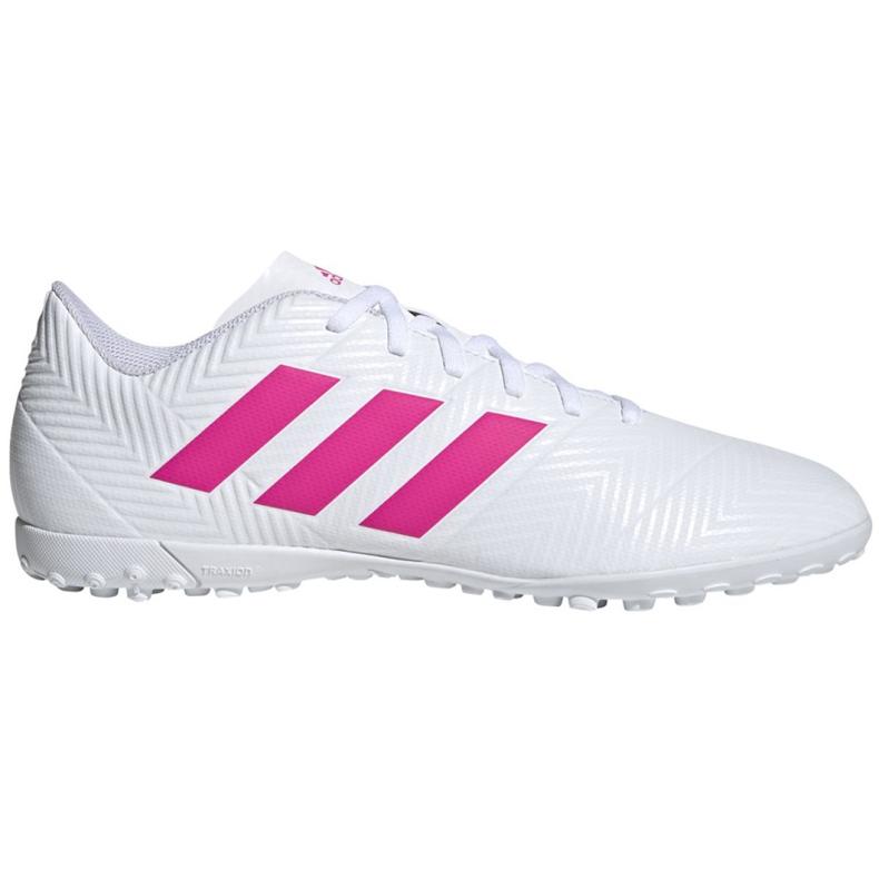 Buty piłkarskie adidas Nemeziz 18.4 Tf M D97993 białe wielokolorowe