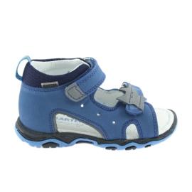 Sandałki chłopięce rzepy Bartek 51489 niebieski
