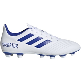 Buty piłkarskie adidas Predator 19.4 FxG M D97959 białe wielokolorowe
