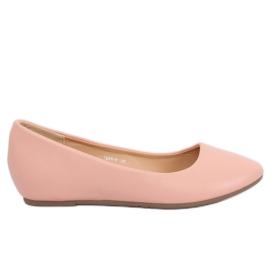 Baleriny na koturnie różowe 7849-P Pink