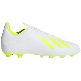 Buty piłkarskie adidas X 18.4 FxG Jr BB9380 białe wielokolorowe