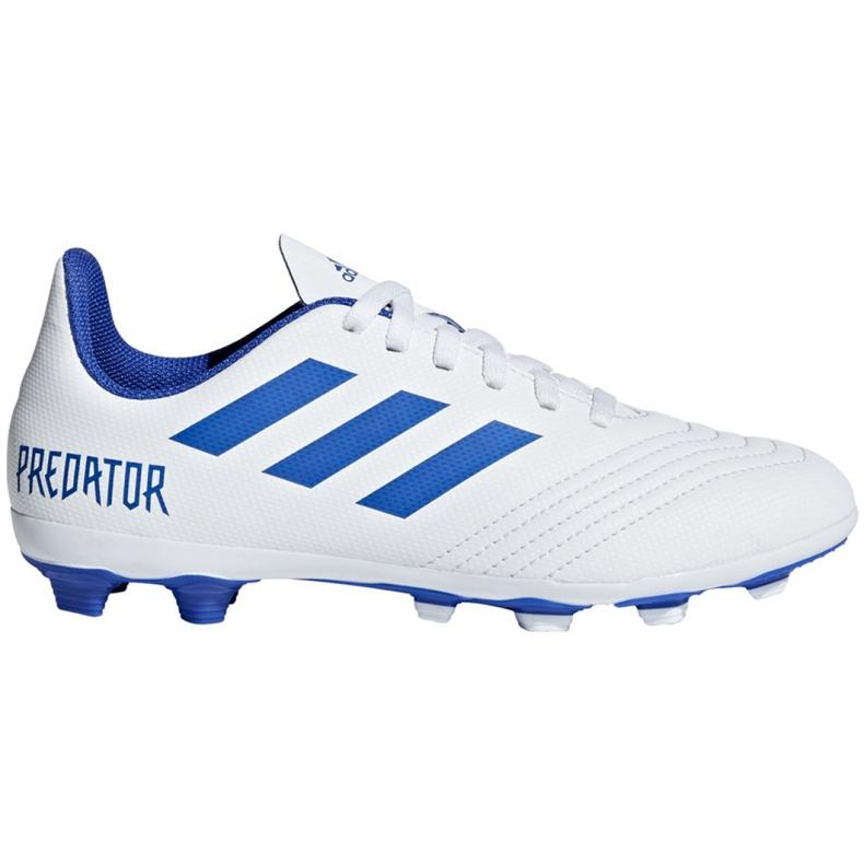 Buty piłkarskie adidas Predator 19.4 FxG Jr CM8542 białe wielokolorowe