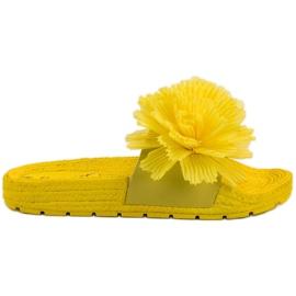 Seastar Żółte Klapki Z Kwiatami