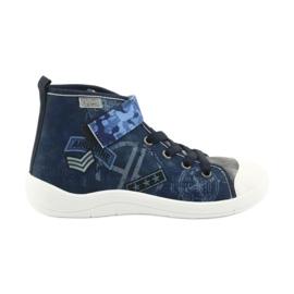 Befado obuwie dziecięce 268Y071 niebieskie szare