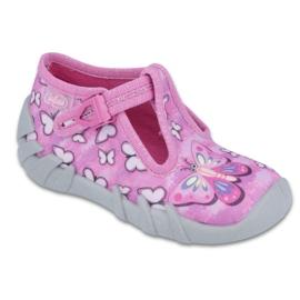 Różowe Befado obuwie dziecięce 110P352