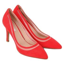 Czółenka na szpilce czerwone 1282-P Red