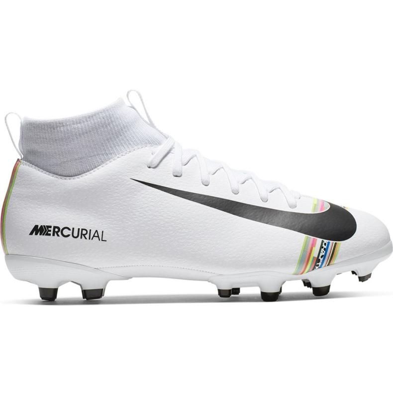 Buty piłkarskie Nike Mercurial Superfly 6 Academy Mg Jr AJ3111-109 białe wielokolorowe
