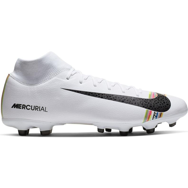 Buty piłkarskie Nike Mercurial Superfly 6 Academy Mg M AJ3541-109 białe wielokolorowe