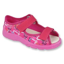 Różowe Befado obuwie dziecięce  869X132