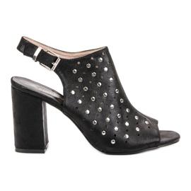 Sandałki Z Dżetami VINCEZA czarne